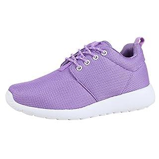Damen Schuhe Sportschuhe Laufschuhe Sneakers Runners Profilsohle Lila Lila 39