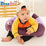 #7: DearJoy Cotton Toddlers' Training Seat Baby Safety Sofa Dining Chair Learn to Sit Stool (Purple)