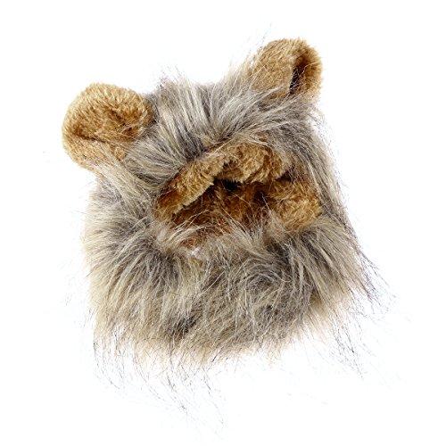 UEETEK Entzückende Haustier Hut lustige Lion Mähne Perücke -