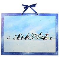 Deluxe tradizionale di calendario dell' Avvento grande–Storia di Natale del pinguino