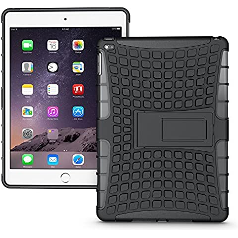 IPad Air 2 Case, Apple iPad Air 2 Tough Case, CASE Hybrid D9 Heavy Duty Dual Layer Armor Protective Shockproof Rugged Case Built-In