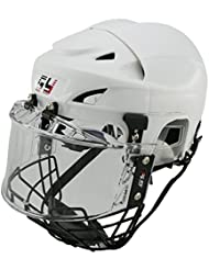 GY SPORTS Casco de hockey para niño &adulto ,hockey sobre hielo con rejilla,Certificado (M)