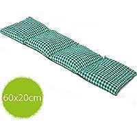 Bio-Dinkelkissen 20x60cm groß 4-Kammer grün-weiß; Wärmekissen, Körnerkissen preisvergleich bei billige-tabletten.eu