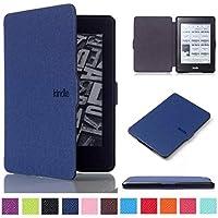 Amazon Kindle Paperwhite hülle, COLJOY Ultra Dünn Etui Schutzhülle mit Schlaf / Wach Funktion für Amazon Kindle Paperwhite (2012 / 2013 / 2014 / 2015)- Dunkelblau, Stylus enthalten