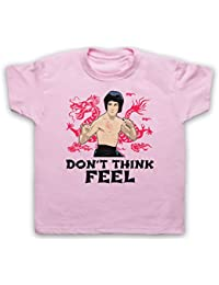Bruce Lee Don't Think Feel Camiseta para Niños