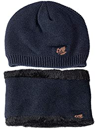 EUCoo Berretto Unisex Mantieni Caldo Cappello di Lana Peluche Multifunzione  Berretti Invernali 971bd4f425db