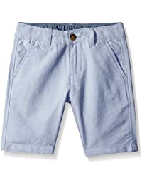 Nautica Boys' Flat Front Oxford Short with Pocket