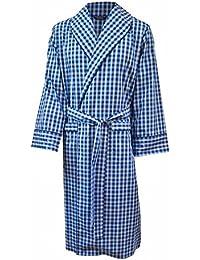 Robe de chambre 100% coton à carreaux - homme