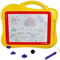 Pizarra Mágica Magnetica Colorido de Tablero Dibujo con Sello - Pizarra Megasketcher - Portátil Juguetes Educativos Juego Creativos para Niños 3 Años+
