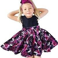 """Robe bebé, beikoard recién nacido bebé niña Floral romper princesa vestido + diadema conjunto disfraz soeur """" negro Noir2 110"""