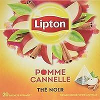 Lipton Thé Noir Pomme Cannelle 20 Sachets 36g - Lot de 4