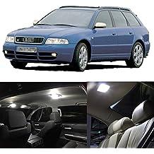 FEZZ 16pcs Bombillas LED Coche Interiors Luz Lámpara Paquete Kit Blanco Canbus para 1998-2001 Audi A4 S4 (B5)