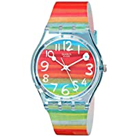Swatch Womens Quartz Watch, Analog Display and Plastic Strap Gs124