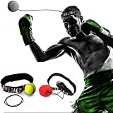 Boxing Fight Ball Reflex Adult/Kids Improve Punch Focus Sport Exercise with Elastic Head Band to Improve Reactions and Speed