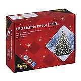 -72% catena luminosa con 400 LED, per esterni, lunghezza 4,7 m, bianco caldo | COME NUOVO