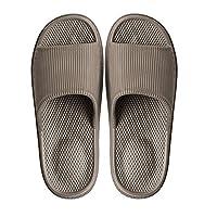 WYSBAOSHU Massage Foam Bathroom Slippers Non-Slip Spa Shower Sandal for Mens/Womens(9.5-10 D(M) US Men,Coffee)