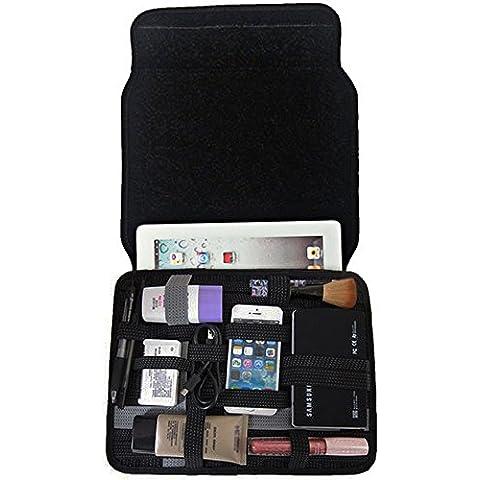 Pershoo Custodia iPad iPhone Samasung Huawei, Sony sacchetto di caso, Pershoo creativo / Cool Fashion nero Elettronica Accessori Borsa Organizer