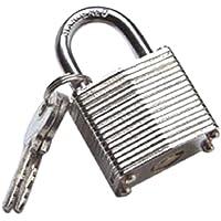 Bulk Hardware BH01306 Heavy Duty Laminated Steel Padlock with Hardened Shackle, 30mm (1.1/4 inch)