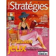 STRATEGIES [No 1201] du 20/07/2001 - RADIO - LES GAGNANTS ET LES PERDANTS DE L4ENQUETE MEDIAMETRIE - LAURENCE BOCCOLINI - FAITES VOS JEUX.