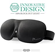 Sleep Mask for Men & Women, PaiTree Eye Mask for Sleeping, 3D Contoured Comfortable Ultra Soft Sleeping Eye Mask & Blindfold with Adjustable Strap, Great for Travel/Nap/Night's Sleeping