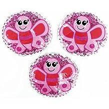 3 Kühlpads mit lustigem Tiermotiv für Kinder (Schmetterling)