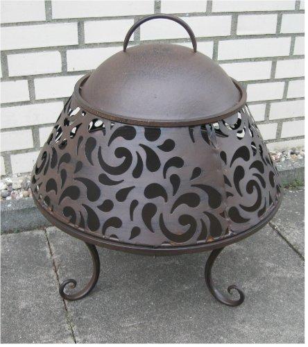 *Feuerkorb Feuerschale mit Funkenschutz *Landhaus* Eisen braun-antik Ø 45 cm*