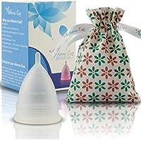Athena Copa Menstrual – La copa menstrual más recomendada - Incluye una bolsa de regalo - Talla 1, Transparente - ¡Ausencia de pérdidas garantizada!