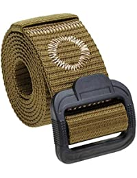 Laisla fashion Cinturón De Tela Antialérgico De Nylon Para Hombre Cinturón  Clásico Con Hebilla De Plástico eaa7150d185b