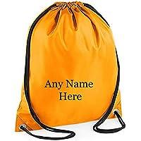 Unisex Printed Personalised Any Name Drawstring Gym Bag b3302f1eab749