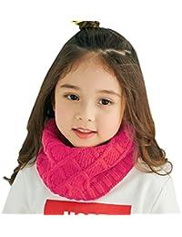 Snood Enfant Écharpe Tube Enfant Tour de Cou Enfant Fille Garçon Écharpe  Tricotée Hiver Écharpe Chaude db44199e288