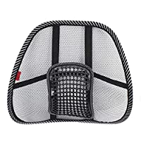 Back Lumbar Support Mesh Ventilate Cushion Cool Car Office Truck Chair Seat Back Lumber Support Vent Massage Cushion Mesh