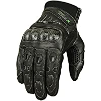 GLOBAL WARMING COBRA LEATHER MOTORCYCLE LONG GLOVES BLACK M