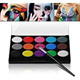 Xpassion schminkf Arben ultimatives Party Set sicheres nichtto xisches Face-Painting Neoprene Fronte Corpo Pittura Set di 1Pennelli 15Colori per Bambini Parties Body Painting Halloween Make up