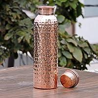 Skywalk Kupfer gehämmert Wasser Flasche, 1L–Handarbeit, Gelenk frei & auslaufsicher für ayurvedische Gesundheit... preisvergleich bei billige-tabletten.eu