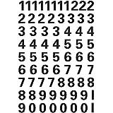 HERMA planche d'étiquettes à chiffres 0-9, (H)10 mm, film transparent
