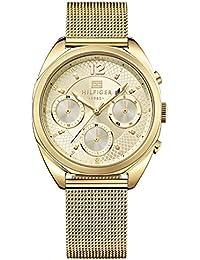 Tommy Hilfiger Femme Analogique Quartz Montres bracelet avec bracelet en Acier inoxydable plaqué - 1781488