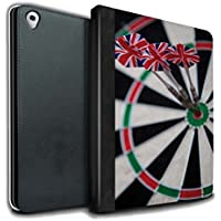 STUFF4 PU Leather Book/Cover Case for Apple iPad Pro 9.7 tablets / Triple Bullseye Design / Darts Photo Collection