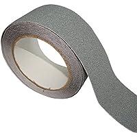 AERZETIX: 5m 50mm Cinta adhesiva antideslizante para pelda?os de escalera, color gris C17833