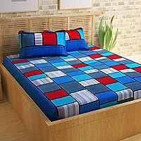 Story at Home Flat Double Bedsheet Set, Multi-Colour, 225 x 235 cm, CN1206