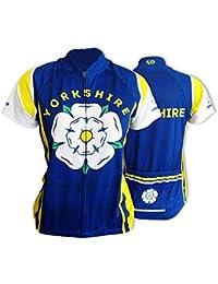 BSK Yorkshire Rose Flag WOMENS Short Sleeve Cycle Jersey Ladies Cycling  Shirt Top Blue ac0cbd091