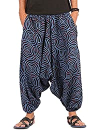 Kiara Boho Hippie Baggy Gypsy - Pantalones de algodón con Bolsillos para Hombre, diseño de