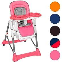 TecTake Kinderhochstuhl Babyhochstuhl höhenverstellbar -diverse Farben-