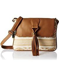 Kanvas Katha Sansa Women's Sling Bag (Brown) (KKSNJQ020)