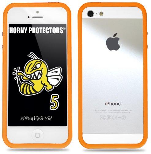 Horny Protectors Cover Case Bumper Schutzhülle für Apple iPhone 5 TPU Silikon lila/schwarz Weiß Hellblau