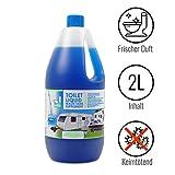 Toilettenzusatz 2 Liter für Camping Toiletten Abwassertank keimtötend, frischer Duft ideal für Wohnwagen, Wohnmobil und Boot