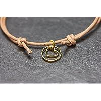 Armband Herz Circle Freundschaftsarmband Love Liebe Valentinstag Lederarmband
