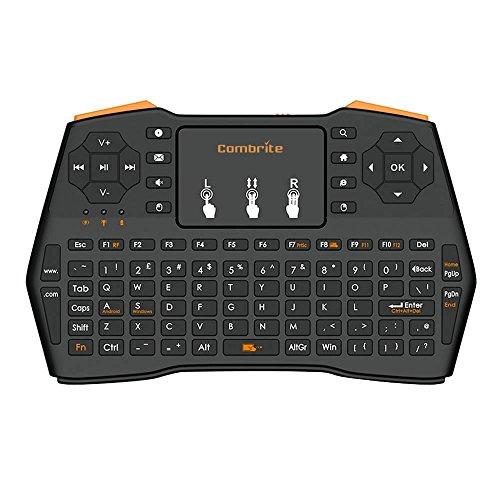 Rf Wireless-tastatur Und-maus (combrite i8+ 2,4GHz RF Mini Wireless Tastatur UND Touchpad Maus Combo–Multimedia-Hand Android Keyboard- für PC Google Smart Android TV Box Media Mini TV PC Stick HTPC IPTV Laptop etc.)