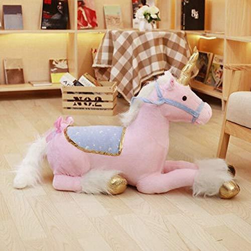 CGDX 100 cm Giocattoli di Peluche Unicorno Unicorno Gigante farcito Animale Cavallo Giocattolo Morbido Unicorno Peluche Bambola Regalo di Compleanno per Bambini Puntelli Foto 100 cm Rosa