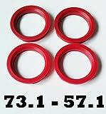 4x 73,1 57,1 anillos de espiga de la rueda de la aleación Centrado Del Cubo