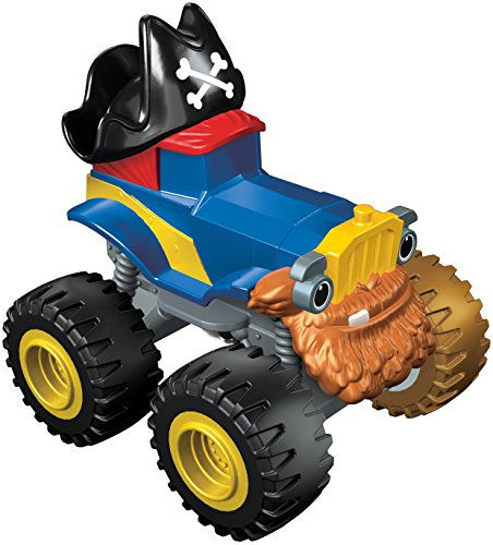 Mattel Blaze et Les Monster Machines - Véhicule de Base Pete Capitaine Pirate dkv75